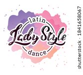 lady style latin dance. hand... | Shutterstock .eps vector #1841658067