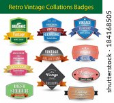 vintage retro badges and labels | Shutterstock .eps vector #184168505
