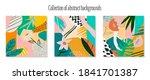 set of abstract art modern... | Shutterstock .eps vector #1841701387
