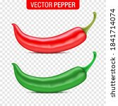 vector set of red and green...   Shutterstock .eps vector #1841714074