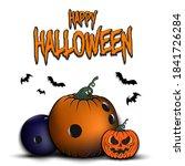 happy halloween. template... | Shutterstock .eps vector #1841726284