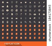 web icons kit. flat icons set .
