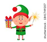 little character funny elf in a ... | Shutterstock .eps vector #1841749207