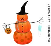 Halloween Pumpkin Head...