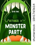 halloween monster party vector... | Shutterstock .eps vector #1841765614