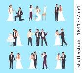 wedding ceremony set. groom and ...   Shutterstock .eps vector #1841777554