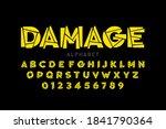 damaged font  alphabet letters...   Shutterstock .eps vector #1841790364