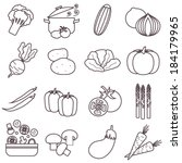 thin line food icons set ... | Shutterstock .eps vector #184179965