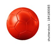 3d red classic soccer ball... | Shutterstock . vector #184180085