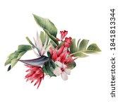 floral arrangement with... | Shutterstock . vector #1841813344