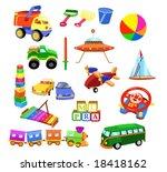 set of toys | Shutterstock .eps vector #18418162