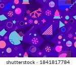 christmas seamless pattern with ...   Shutterstock .eps vector #1841817784