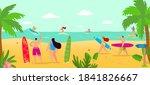 vacation at summer beach ...   Shutterstock .eps vector #1841826667