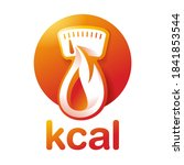 kcal icon  calories sign ... | Shutterstock .eps vector #1841853544