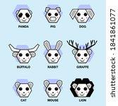 cartoon animal face icon... | Shutterstock .eps vector #1841861077