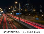 Aerial View Of Highway With...