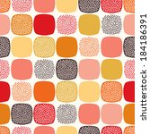 seamless abstract square dotted ... | Shutterstock .eps vector #184186391