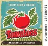 retro tomato vintage... | Shutterstock .eps vector #184186451