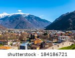 town of bellinzona  switzerland | Shutterstock . vector #184186721