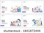 cloud computing service  data...   Shutterstock .eps vector #1841872444