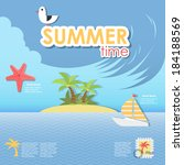 summer time infographic | Shutterstock .eps vector #184188569