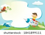 frame template cartoon with a... | Shutterstock .eps vector #1841899111