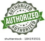 authorized green grunge retro...   Shutterstock . vector #184193531