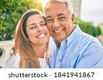 Middle Age Hispanic Couple...