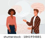 two people talking vector...   Shutterstock .eps vector #1841954881