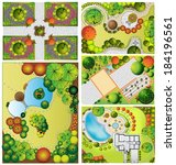 collections od  landscape plan... | Shutterstock . vector #184196561