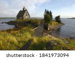 Abandoned Wooden Church On A...