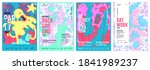 set of funny posters with... | Shutterstock .eps vector #1841989237