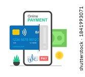 online payment concept.... | Shutterstock . vector #1841993071