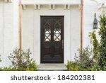 horizontal of intricate wooden... | Shutterstock . vector #184202381