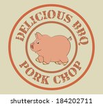 farm design over beige... | Shutterstock .eps vector #184202711