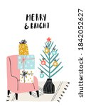 merry and bright   new year... | Shutterstock .eps vector #1842052627