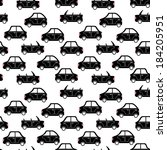 seamless pattern of cartoon... | Shutterstock .eps vector #184205951