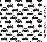 seamless pattern of cartoon... | Shutterstock .eps vector #184205951