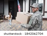 Happy Military Serviceman...