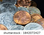 American Cents Close Up Photo....