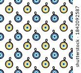 vector seamless pattern... | Shutterstock .eps vector #1842092587