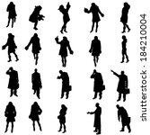 vector silhouettes of different ... | Shutterstock .eps vector #184210004