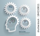 gear and head infographic... | Shutterstock .eps vector #184210811