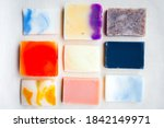 colorful handmade solid soap... | Shutterstock . vector #1842149971