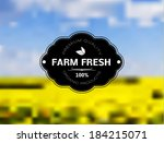vintage organic farm stamp on... | Shutterstock .eps vector #184215071