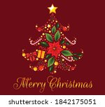 christmas details in a shape of ... | Shutterstock .eps vector #1842175051