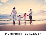 happy young family having fun... | Shutterstock . vector #184223867