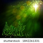 three kings looking at the star | Shutterstock . vector #1842261331