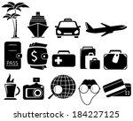 isolated set with black objects ... | Shutterstock .eps vector #184227125