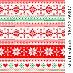 nordic seamless knitted... | Shutterstock .eps vector #1842279307